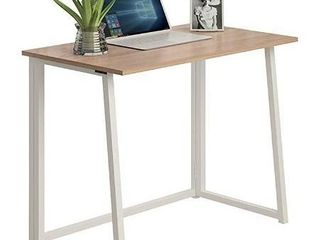 No Assembly Folding Desk  31 5  Small Computer Desk Home Office Desk Foldable Table Study Writing Desk Workstation for Small Space Offices  White