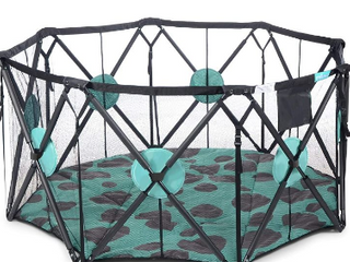 Milliard X large 8 Panel Playpen Portable Playard With Cushioning For Safety     Not Inspected