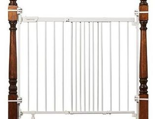 Summer Metal Banister And Stair Safety Baby Gate  White  32 5a Tall  31a To 46a
