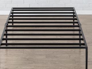 Zinus Platforma Bed Frame   Black    Not Inspected Nor Inspected Hardware