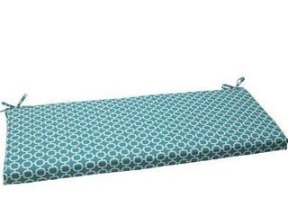 Pillow Perfect Outdoor Indoor Hockley Teal Bench Swing Cushion  Green  Blue