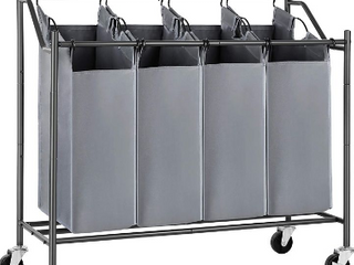 Songmics Rolling laundry Storage Cart   Not Inspected     4 baskets in on Cart
