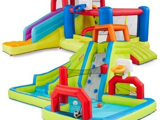 Banzai 2 in 1 Ultimate Bounce House and Water Slide Combo Pack   Not Inspected an Used