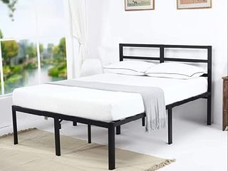 18  metal Slat bed frame queen