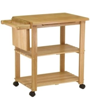 Utility Cart with Cutting Board Wood Natural   Winsome   Not Inspected