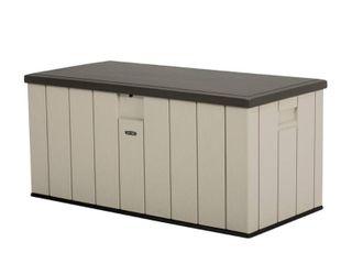 lifetime 150 Gallon Heavy Duty Outdoor Storage Deck Box  Desert Sand   Not Inspected