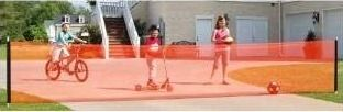 Kidkusion Non Retractable Driveway Safety Net  Orange by KidKusion