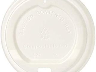 Amazonbasics Compostable Hot Cup lid For 10 Oz    20 Cups  10 Oz   20