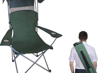 Besthls canopy camping chair green