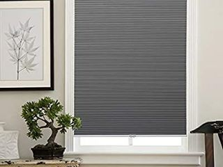 Cellular Shades Cordless Window Blinds Honeycomb Shades for Home and Windows Bedroom  Blackout Shades  Grey White  35x64