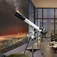 Telescopes for Adults  70mm Aperture and 700mm Focal length Professional Astronomy Refractor Telescope for Kids and Beginners   with EQ Mount  2 Plossl Eyepieces and Smartphone Adapter  USED ACCESSORIES MAY VARY