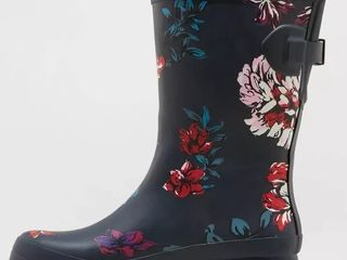 Women s Vicki Mid Calf Rubber Rain Boots   A New Day