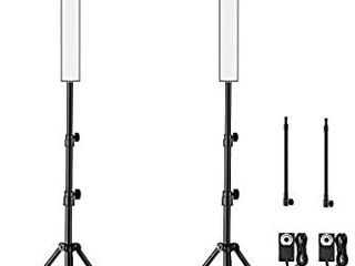 Yesker lED Video light 2 Packs Dimmable Photography Studio lighting Kit Color 5500K Adjustable Brightness with Tripod Stand