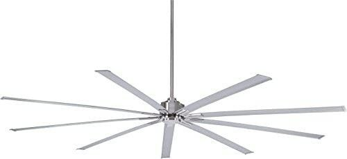 Minka Aire F887 96 BN Xtreme 96 Inch Outdoor Ceiling Fan with DC Motor in Brushed Nickel Finish