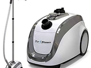 PurSteam  2020 Official Partner of Fashion Full Size Steamer for Clothes  Garments  Fabric Professional Heavy Duty   4 Steam levels  Perfect Continuous Steam