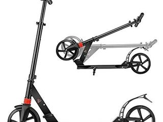 YUEBO Adult Kick Scooter Children from 10 Years City Scooter Big Wheel Scooter Height Adjustable and Foldable up to 100 kg load Capacity YUEBO