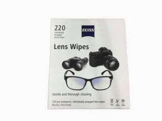 ZEISS Pre Moistened  Individually Wrapped lens Wipes  220 ct