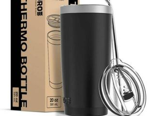 Juroe Tumbler 20 oz  Stainless Steel with lid and Straw