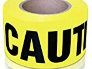 2 pack of XFasten Caution Tape  Yellow  3Inch x 1000Foot Fade Resistant and High Readability