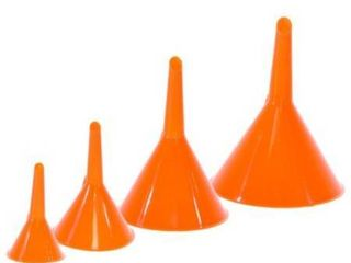 Majic 4 Pieces 4 Sizes Plastic Funnel Set for Car Oil  Gas and Fluids