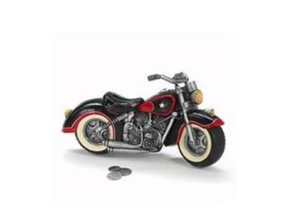 Black   Red Motorcycle Shaped Piggy Bank Home Decor