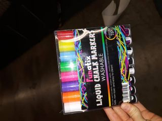 liquid Chalk Window Markers 8 Colored Non toxic Safe   Easy To Use Neon