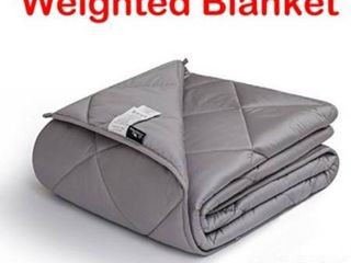 downluxe Weighted Blanket for Adult Woman and Man Perfect for Anxiety  Autism  and Sensory Relief Fits King Size Beds Grey 60 x8