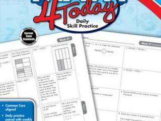 3 Pack Common Core Math 4 Today  Grade 4  Daily Skill Practice  Common Core 4 Today