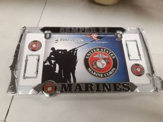U S  Marines Semper Fi All Metal license Plate Frame