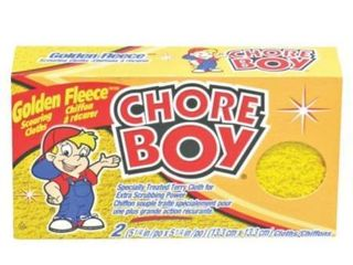 Chore Boy Golden Fleece Scrubbing Cloth  2 Cloths per box 6 Boxes