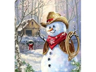 Cowboy in the Snow 100 Piece Jigsaw Puzzle by SunsOut