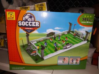 Brick land Soccer Game Building Bricks Toy Set With Football Field And 10 Players