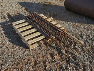 Pallet of Misc  Rebar  Solid Rod