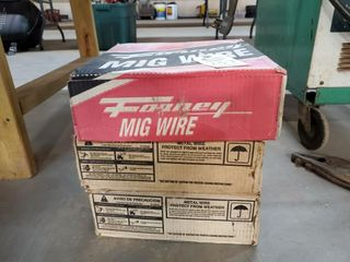 3   Boxes of mig wire