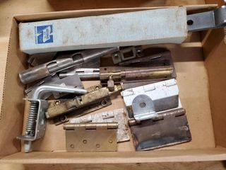 Box of asst  hinges and latches