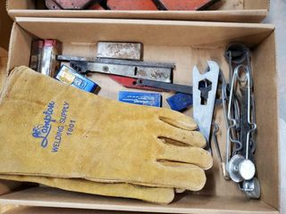 Box of misc  welding supplies