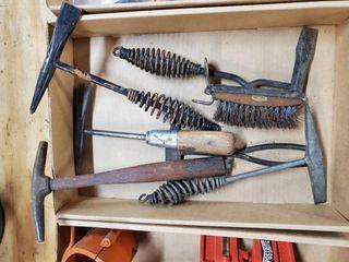 Box of welding hammers