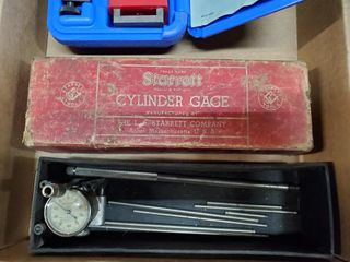 Central Tools micro meter   Starett cylinder gauge
