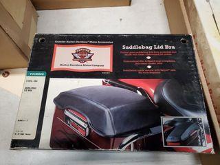 Harley saddle bag lid bra
