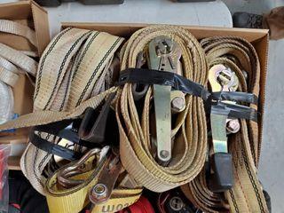 4 heavy duty   2  ratchet straps