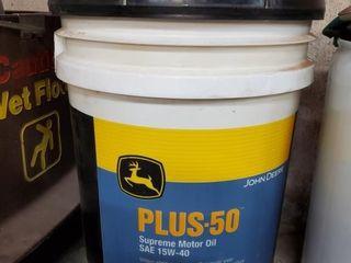 John Deere 5 gal 50 15W 40 motor oil