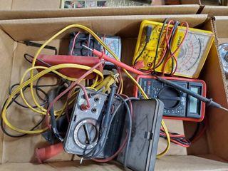 Box of asst  volt meters