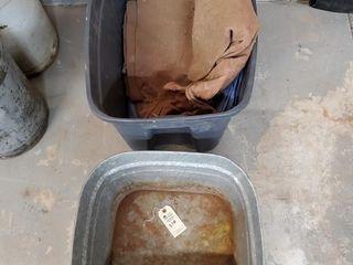 Galvanized tub   tarps