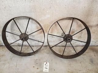 2   Steel spoke wheels