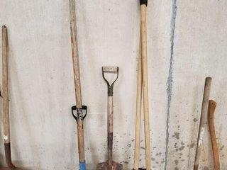 Post hole digger  shovel  etc