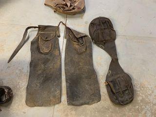 leather Chaps  Saddlebag    Canvas Saddlebag