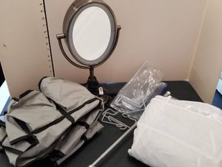 lighted mirror and organizers