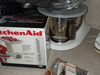 Kitchen Aid Stand Mixer with Food Grinder Attachment