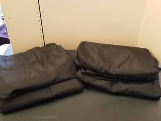 Black lined curtain panels set of 4