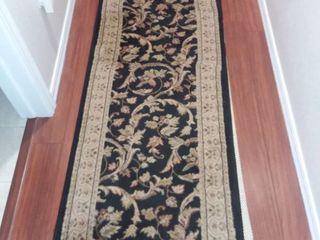 Black and Tan Floor Runner Rug 67 x 24 in